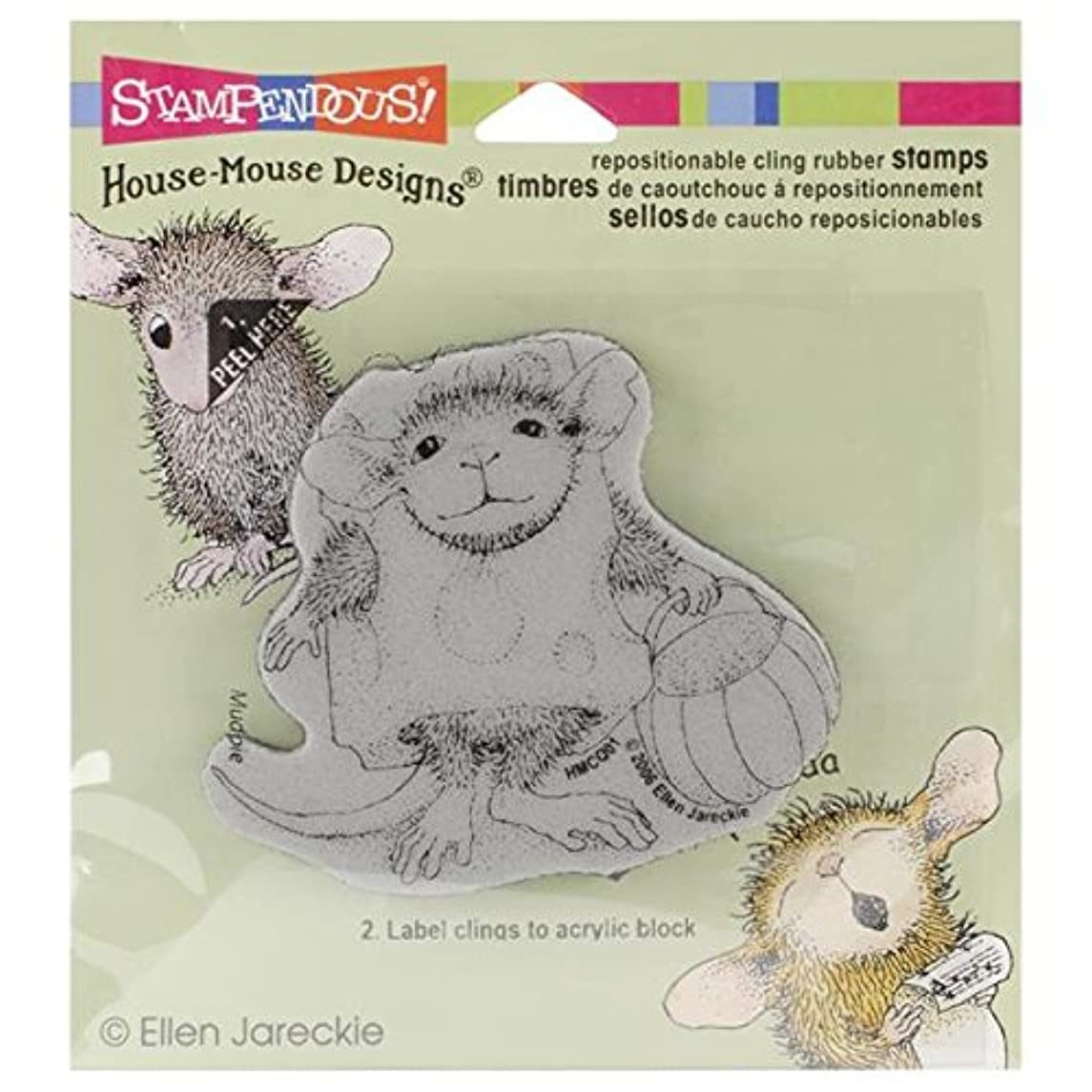 STAMPENDOUS, Cling Rubber Stamp, Trick or Cheese