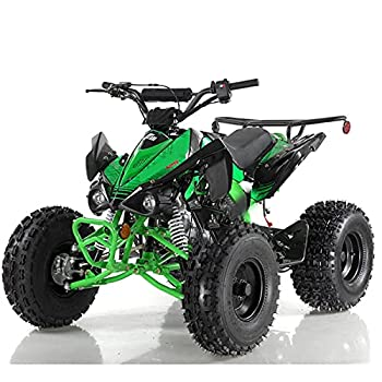 X-PRO 125cc ATV Quad Youth 4 Wheeler Adults ATVs Quads Middle Size 4 Wheelers  Green