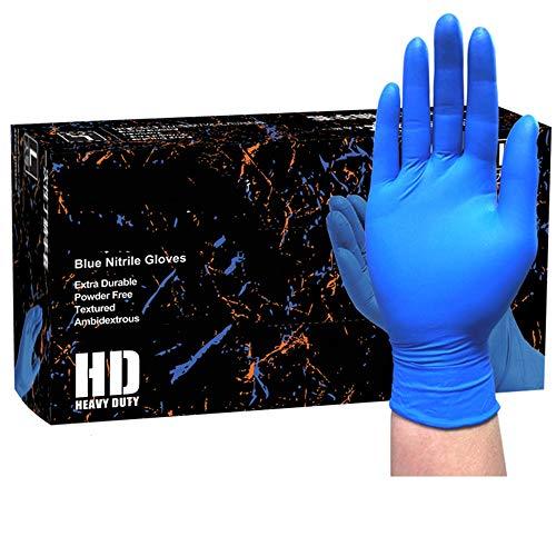 Lyq&st Nitril Medizinische Handschuhe, Dicker Und Verschleißfest, Rutschfester Fingertips, Säure- Und Laugenbeständig, Umwelt Und Geschmacklos OP-Handschuhe, Lebensmittel/Hausarbeit, 100 Stück/Karton
