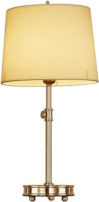ZWL Tutti bronzo lampada da tavolo Camera studio Soggiorno panno puro rame di copertura lampada da tavolo Retro Arte comodino rame Lampada da tavolo fashion.z ( Colore : A )