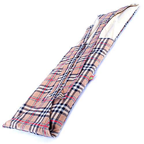 Faja Térmica Lumbar de Semillas - Almohada de Calor para Espalda Calentar en Microondas (60x20 cm) - Saco Térmico con Funda lavable, Tela de Algodón 100% y Olor a Lavanda (Oxford)