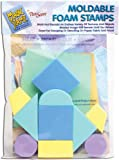 CLEARSNAP Magic Stamp Moldable Foam Stamps 10/Pkg, Geometric