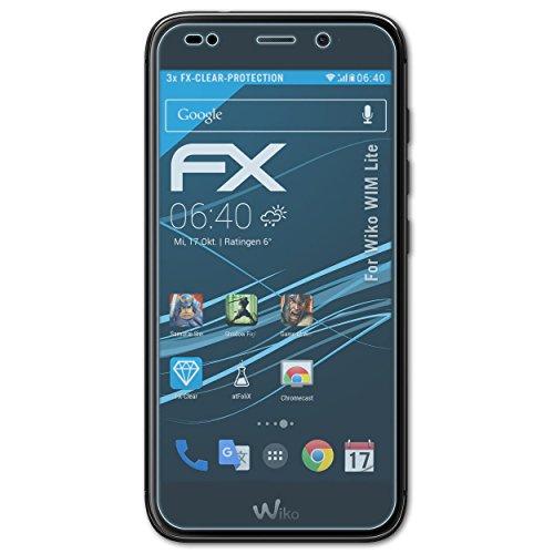 atFolix Schutzfolie kompatibel mit Wiko WIM Lite Folie, ultraklare FX Bildschirmschutzfolie (3X)