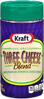 Kraft 100% Grated Three Cheese Blend Shaker (8 oz Bottle)