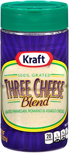 Kraft Grated Three Cheese Blend Shaker (8 oz Bottle)