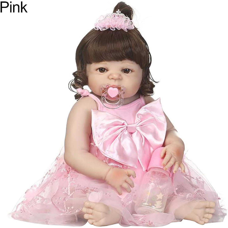 XdremYU Poupée bébé en Vinyle pour Fille 56 cm rose