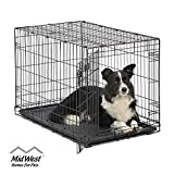 Dog Crate | MidWest ICrate 36 Inch Folding Metal...