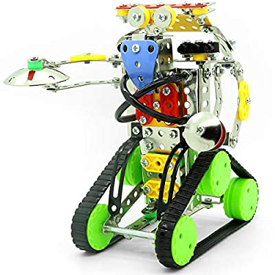 STEM Robot Building Kit | Build Your Own Robot Construction & DIY Engineering Toy | Educational Robot Kits for Kids to Build for Boys Girls Age 8 9 10 11 12 Teens Adults | Build & Take Apart Project