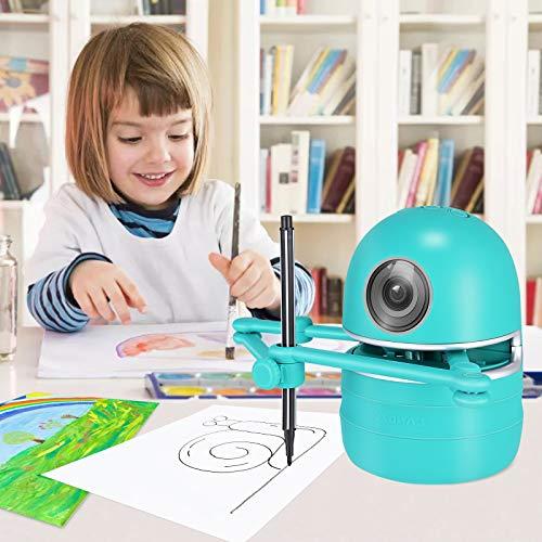 KKTECT Drawing Robot Artista robot Robot de dibujo automático inteligente Pintura/Matemáticas/Ortografía Juguete educativo robot inteligente Incluye 4 libros 38 tarjetas Regalo único para niños