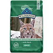 Blue Buffalo Wilderness High Protein Grain Free, Natural Adult Dry Cat Food, Duck Flavor, 11-lb