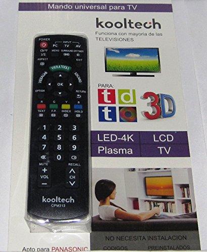 Mando Distancia Universal Para Mayoría TV Televisores Panasonic SIN INSTALACIÓN