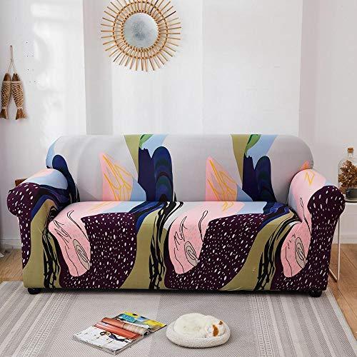 Fundas elásticas Funda de sofá elástica para Sala de Estar Funda de sofá seccional Funda de sillón en Forma de L A17 2 plazas