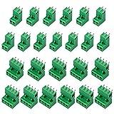 cococity 5.08 mm Pas 2/4 Pin Plug-in Vis PCB, (44 pcs, 22 Pairs) Bornier à Vis Souder Plug-in Vis Circuit Imprimé Terminal Block Connecteur