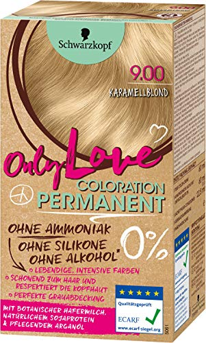 SCHWARZKOPF ONLY LOVE Coloration 9.00 Karamellblond, Stufe 3, 1er Pack (1 x 143 ml)