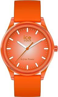 Ice-Watch - Ice Solar Power Sunlight - Montre Orange Mixte avec Bracelet en Silicone - 017771 (Medium)
