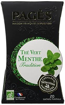 Pagès Thé Vert Menthe Bio 20 sachets parent