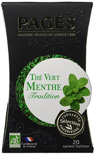 Pagès Thé Vert Menthe Bio 20 sachets