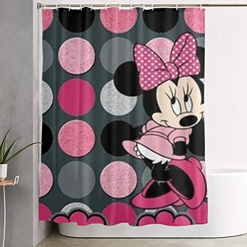 LOV Hermosa cortina de ducha de Mickey Minnie, decoración para hombres, mujeres, niños y niñas, 60 x 72 pulgadas