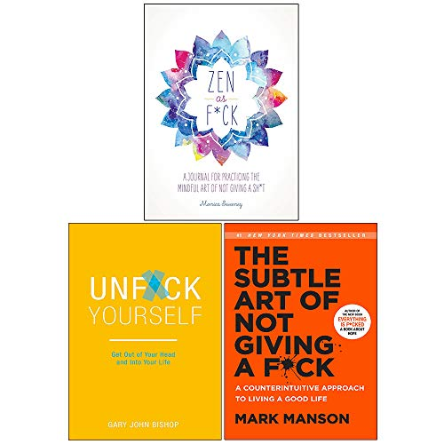 Price comparison product image Zen as Fck,  Unfck Yourself,  The Subtle Art of Not Giving a Fck [Hardcover] 3 Books Collection Set