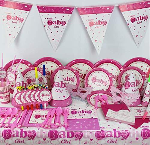 MAGRF Kleine Mädchen Thema Set Geschirr kreative Baby Geburtstagsfeier Party Kleid Anordnung