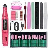 STLDM - Kit de taladro eléctrico para uñas acrílicas y uñas de gel, para esmalte, uñas y esmaltes de uñas, set de esmalte, para manicura rápida, pedicura para mujer