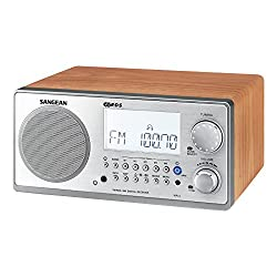 Sangean WR-2WL FM-RDS (RBDS)/AM Wooden Cabinet Table Top Digital Tuning Receiver, Walnut, 10 Memory Preset Stations (5 FM/5 AM), Easy to Read LCD Display, Digital tuning system, Clock and Alarm (Radio/Buzzer), Adjustable Sleep Timer