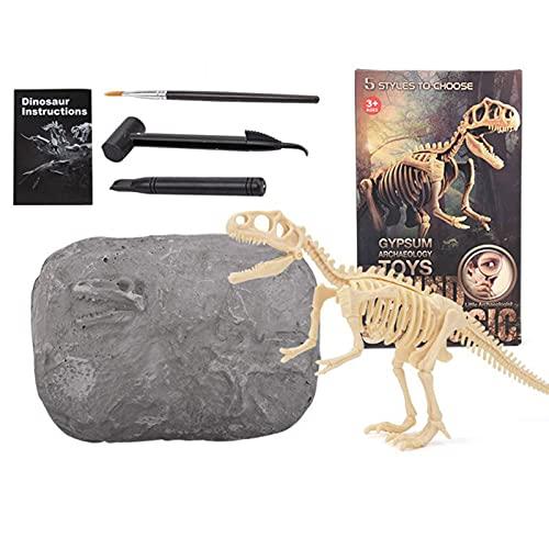 Conjunto de brinquedo arqueológico de escavação fóssil de dinossauro, kits de ciência criativos, brinquedo de desenvolvimento precoce para meninos e meninas