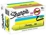 Sharpie Tank Highlighters, Chisel Tip Yellow Highlighter Pens, 12 Count