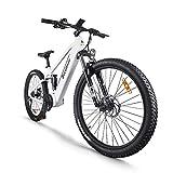 Bicicleta de montaa elctrica de 27,5 Pulgadas, Motor Central elctrico BAFANG 48V 750W, con batera de Litio actualizado de 17,5 Ah, Sistema de Frenos de Doble Disco de suspensin Shimano 9