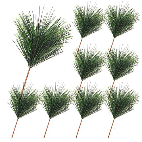 50 Pack 4.7 Inch Artificial Pine Needles Christmas Pine Branches for Christmas Garland Wreath Embellishing and Holiday Decorations