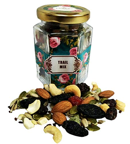 VSD Trail Mix Healthy Breakfast Nutrition Mixture of Berries, Dry Fruits and Seeds Jar - 120 Gm
