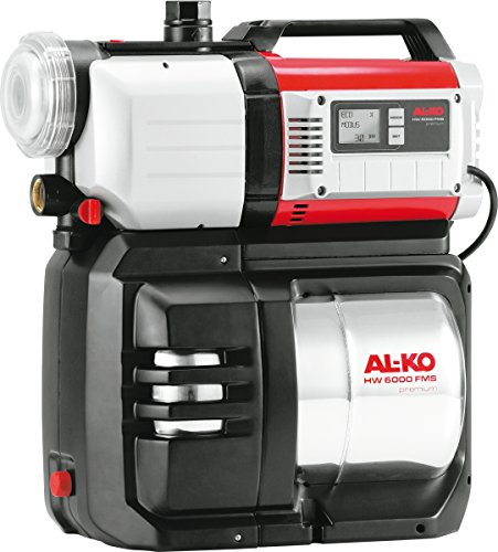 AL-KO Hauswasserwerk HW 6000 FMS Premium, 1400 W Motorleistung, 6000 l/h max. Fördermenge, 50 m max. Förderhöhe, 5-stufiges Pumpenlaufwerk