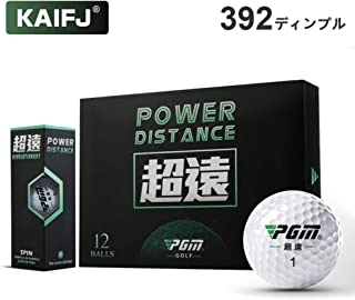 KAIFJ ゴルフボール1ダース(12個入) 強弾道を可能にする392ディンプル