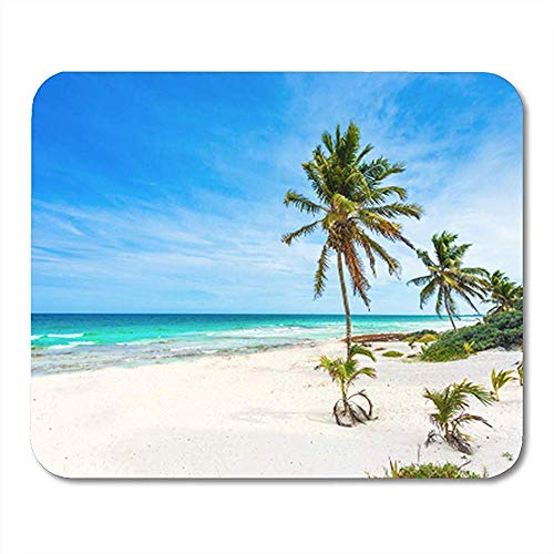 Gaming Mouse Pad Caribbean Sea in Mexico Riviera Maya Paradise Beach Beautiful 25*30cm Decor Office Nonslip Rubber Backing Mousepad Mouse Mat
