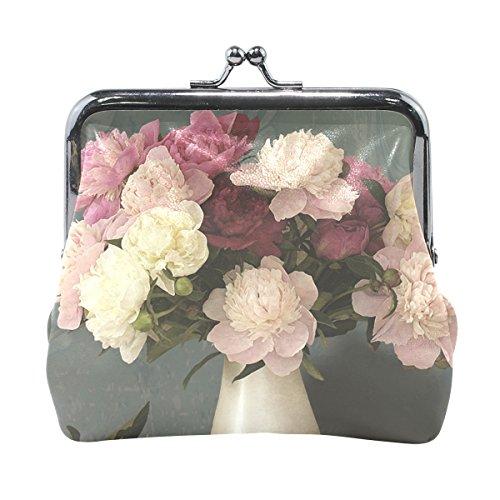 Lianchenyi Vase mit Pfingstrosen, Mini-Geldbörse für Damen und Mädchen