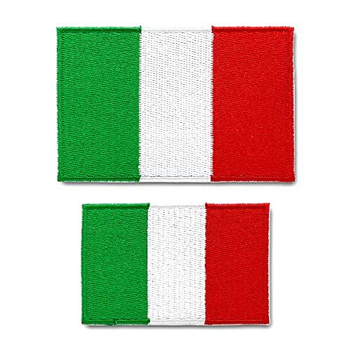 Patches zum Aufbügeln Nationalflagge 2 Stück Buegelbilder Bestickte Patches Sticker Gestickte Aufnäher Applikation für DIY Kleidung Jeans T-Shirt Jacken Rucksäcke