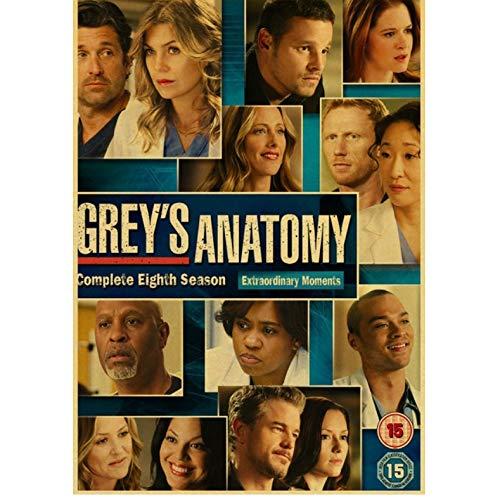 Greys Anatomy Poster Klassisch Hot Tv Kraftpapier Retro Poster Bar Cafe Dekor Malerei Wandaufkleber Wohnzimmer Dekor 50X70CM No Frame