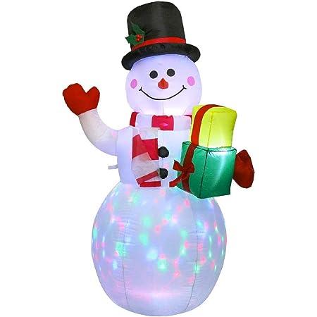 Riiai 1.5m Christmas Inflatable Snowman,LED Luminous Xmas Inflatable Snowman Christmas Outdoor Decoration,Blow UpYard Party Decor Airblown Inflatable Christmas Decoration Outdoor Home Garden Lawn Yard