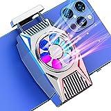 DEKSMO Fun Cooler for Mobile Phone,Phone Cooler Radiato Smartphone Phone Cooler Radiator for iPhone iOS/Android Gaming Semiconductor Heatsink Cell Phone Cooling Fan Mobile Radiator Cooling (Silvery)
