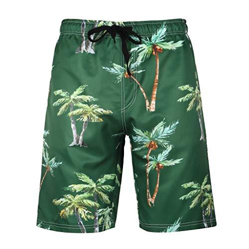 Daysing Herren Schlafanzughose Kurz Baumwolle Pyjamahose Shorty Sommer Nachtwäsche Schlafanzug Sleep Hose Pants(Armeegrün,XXXX-Large)