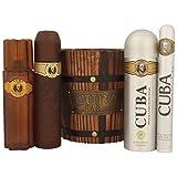 Cuba Geschenk-Set 5-teilig - 1x Cuba Eau de Toilette (100 ml), 1x Cuba Deodorant (200 ml), 1x Cuba After Shave (100 ml), 1x Cuba Eau de Toilette (35 ml), 1x Holzeimer.