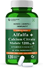 Carbamide Forte Calcium 1200mg with Magnesium Zinc Vitamin D & B12 | Calcium Tablets for Women & Men – 120 Veg Tablets