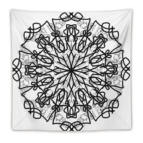 horjeeda Indianer-Hippie-, Tapisserieweißer Stil, indischer Hippie-Gypsy, TapisserieTischdecke, runde Decke, Picknickdecke, 152,4 x 152,4 cm