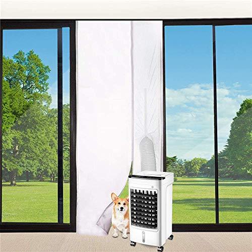 Vegena Guarnizione Porte Climatizzatore–Per Tutti i tipi di Condizionatori Portatili Guarnizione Universale per Porte Climatizzatori Asciugatrice Mobili Hot Air Stop Conditioning Soft Cloth 90x210CM