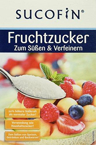 SUCOFIN Fruchtzucker, 3 x 500g Fructose, Verwendbar wie normaler Zucker, 20% höhere Süßkraft als Haushaltszucker, Ideal zum Süßen und Verfeinern von Getränken, Gebäck und Speisen