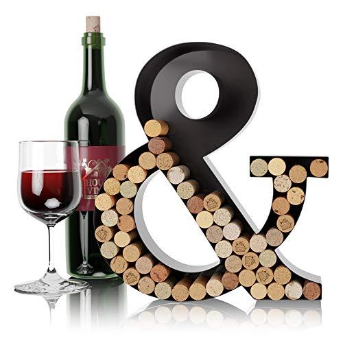 HouseVines Korkhalter für Weinbriefe, Wanddekoration, Metall, Monogramm, individueller Wein-Buchstaben-Korkenhalter, A bis Z, Geschenke für Weinliebhaber