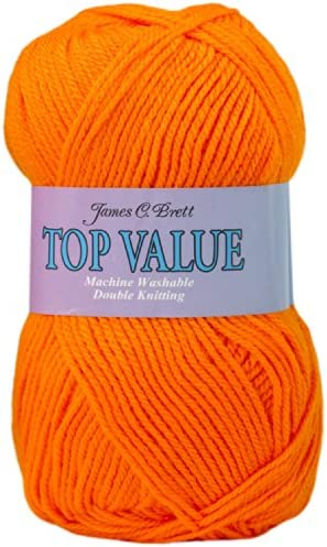 100/% Acrylic James Brett Top Value DK Yarn Double Knitting Wool 1 5 or 10 x 100g