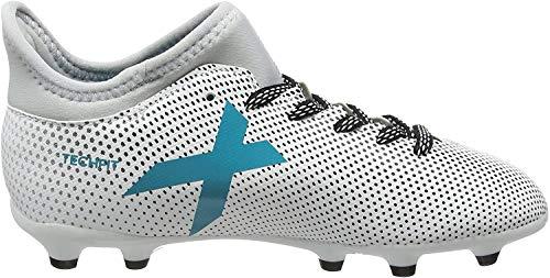 adidas X 17.3 FG J, Zapatillas de Fútbol para Niños, Multicolor (FTWR White/Energy Blue/Clear Grey), 38 EU