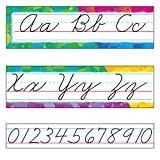 Trend Color Splash Cursive Alphabet Board Set