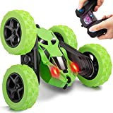 Diswoe Remote Control Car RC Cars Stunt Car Toy, 4WD 2.4Ghz Remote Control Car Double Sided Rotating Vehicles 360° Flips with Headlights, Kids Toy Cars for Boys & Girls Birthday Christmas